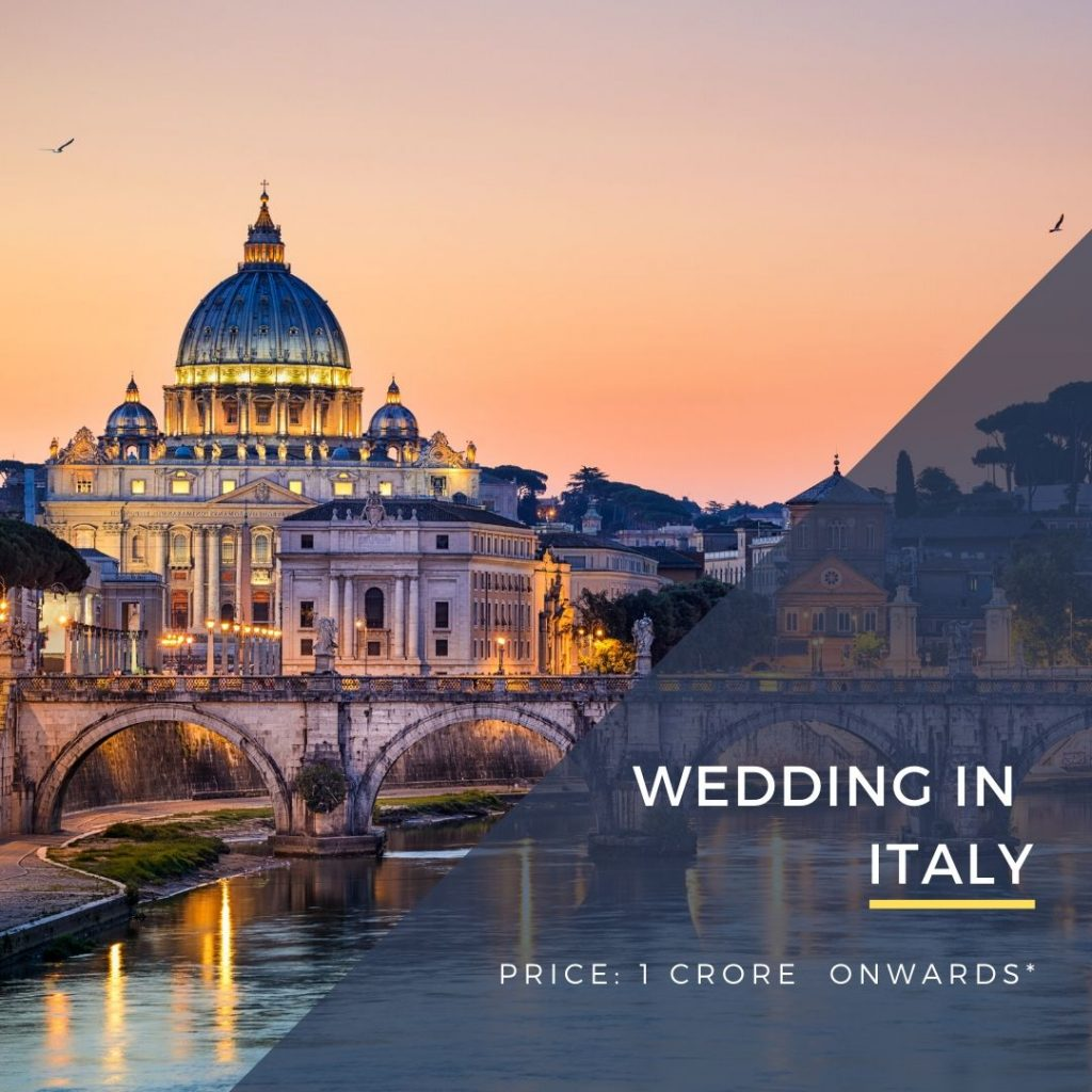 Destination Wedding in Italy, Rome, Florence, Venice, Como DWC wedding packages